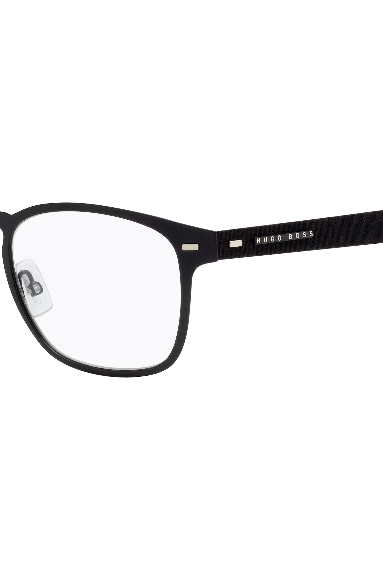 Lightweight glasses with black metal frames
