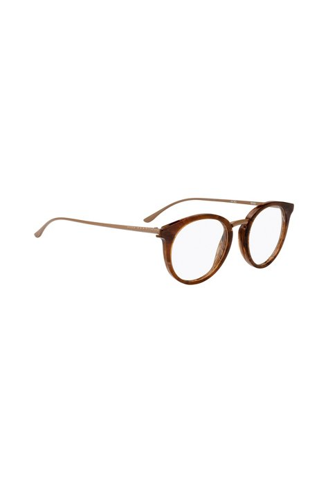BOSS - Clear-lens glasses with acetate frames