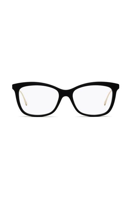 Lightweight glasses with black-acetate frames, Black