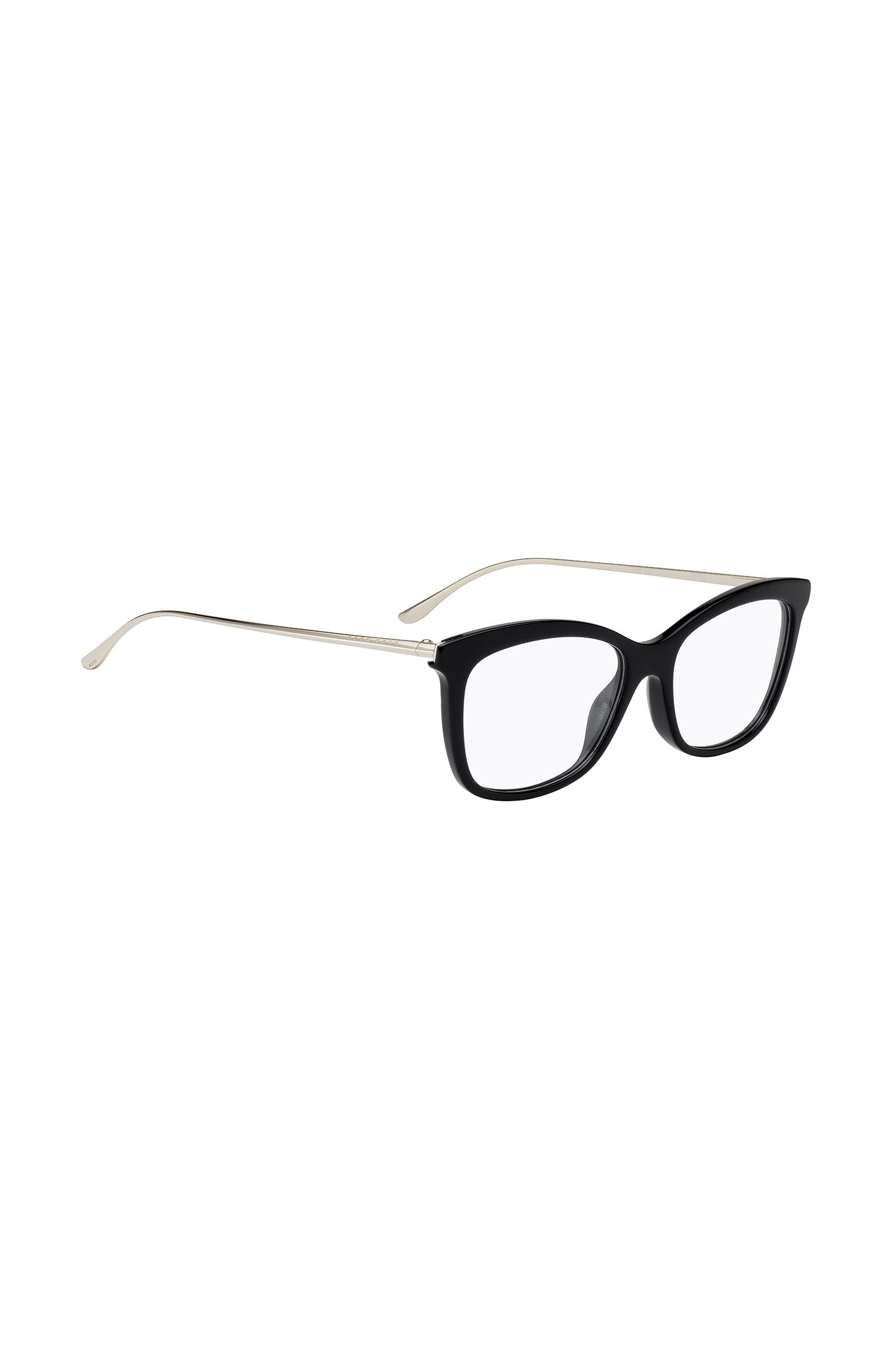 Leichte Brille mit schwarzer Acetat-Fassung, Schwarz