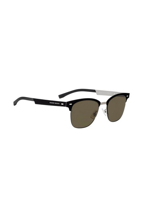 Ultra-light sunglasses with hand-crafted detail, Black