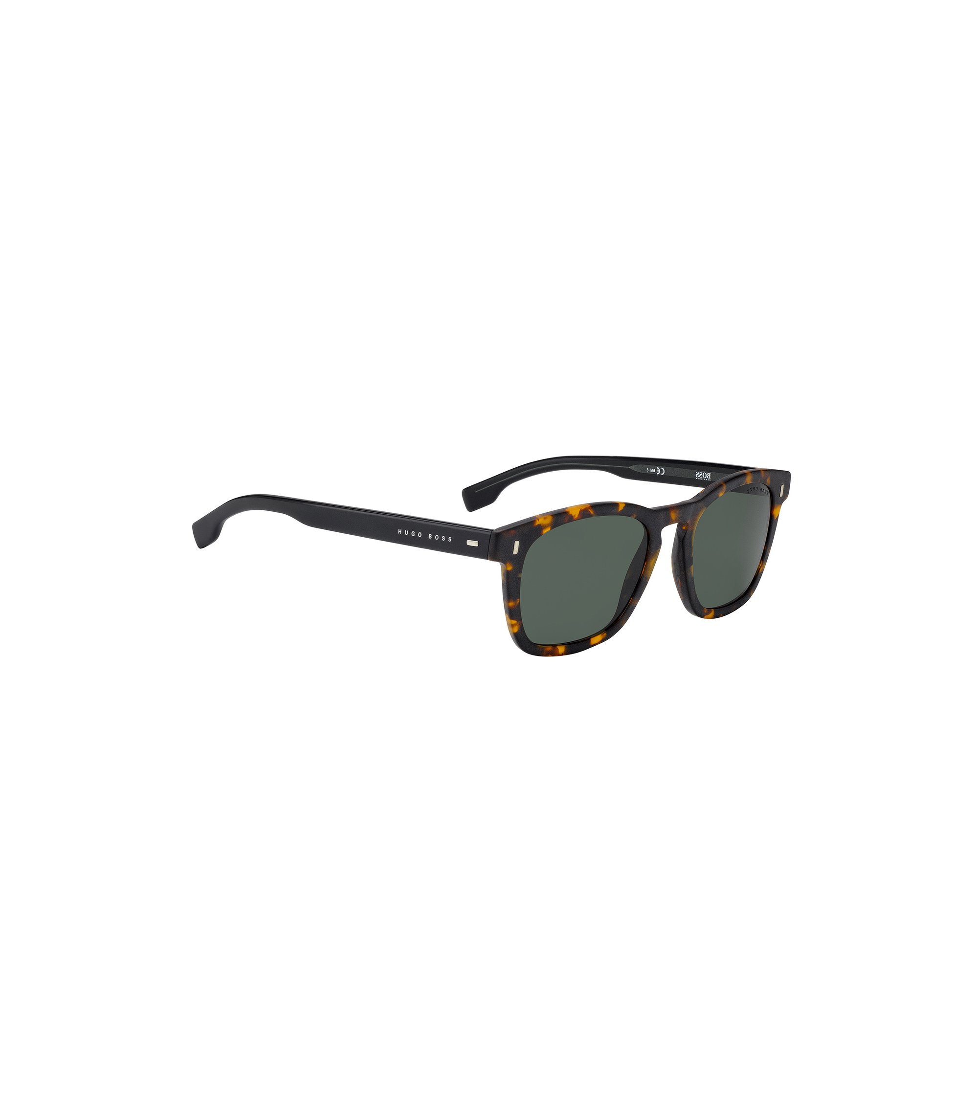 Wayfarer-inspired sunglasses with Havana pattern, Assorted-Pre-Pack
