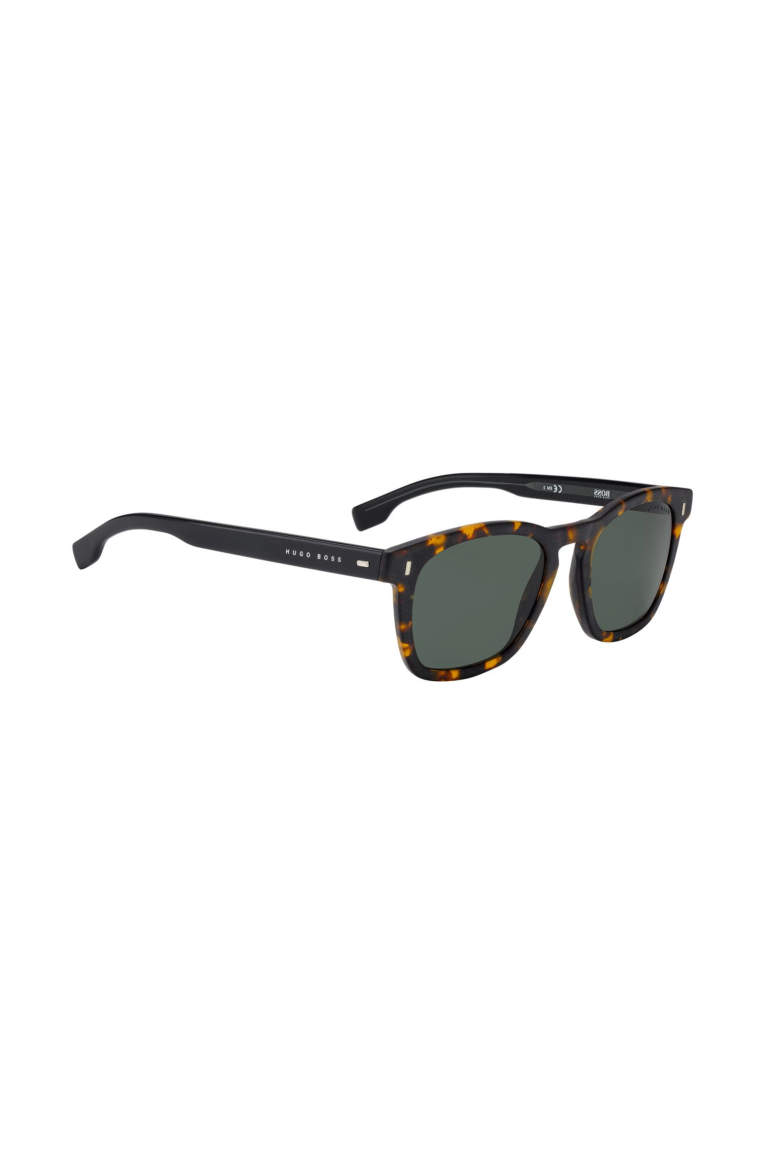 Wayfarer-inspired sunglasses with Havana pattern, Patterned