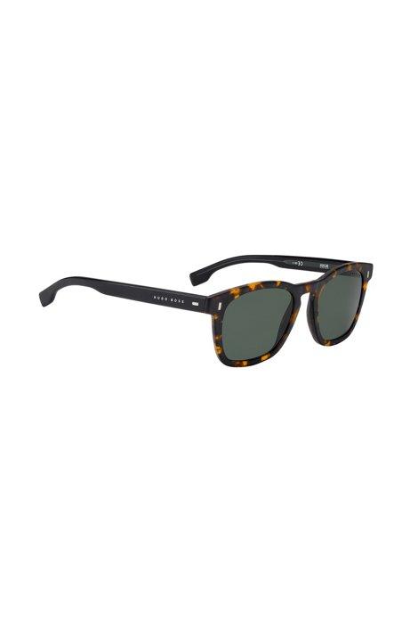 2680b8b99c5 BOSS - Wayfarer-inspired sunglasses with Havana pattern