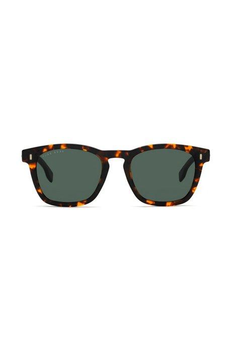 Lunettes de soleil inspirées du style Wayfarer à motif Havana WI05Yf5STp