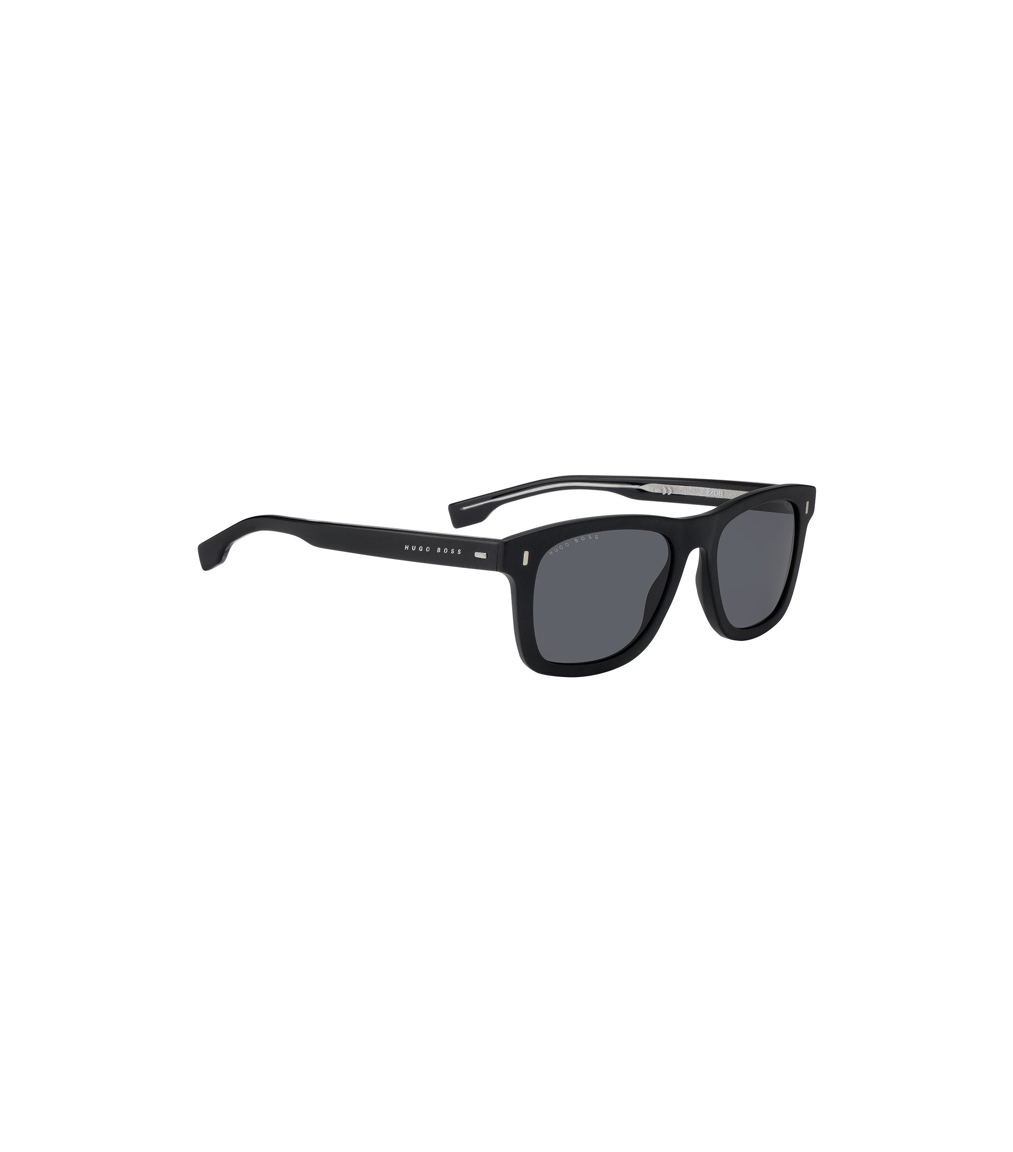 Wayfarer-inspired sunglasses in high-density acetate, Black
