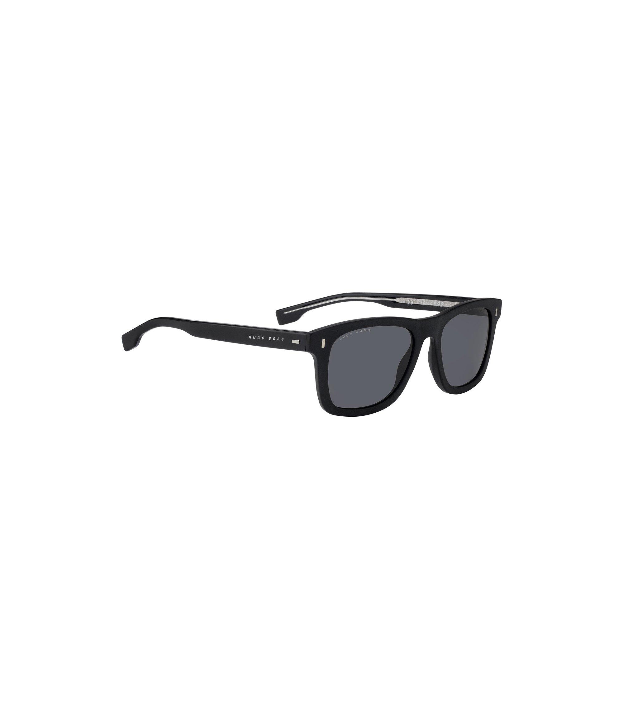 Zonnebril van premium acetaat met wayfarer-inspiratie, Zwart