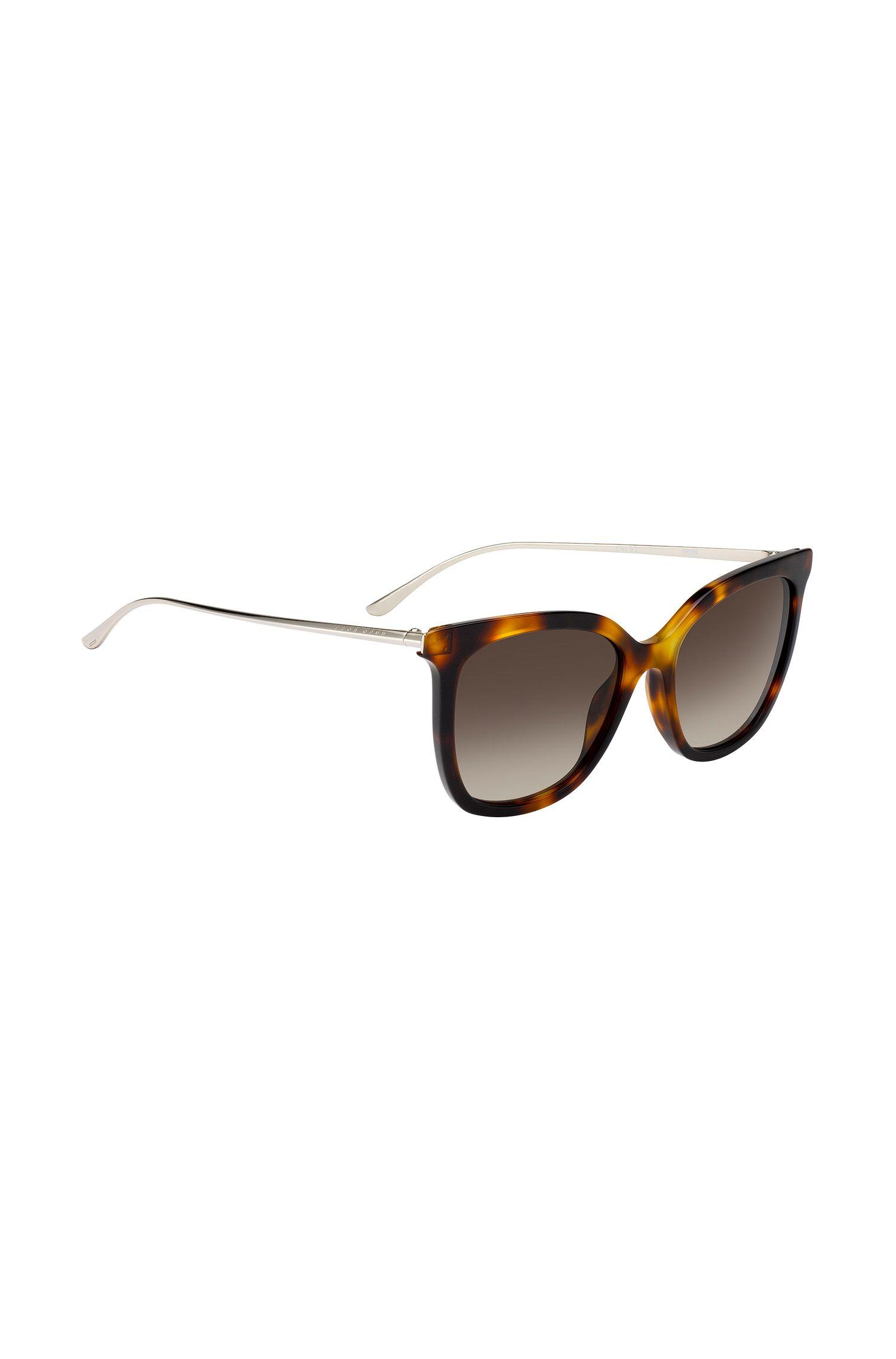 Sonnenbrille mit Acetat-Fassung in Schildpatt-Optik, Gemustert