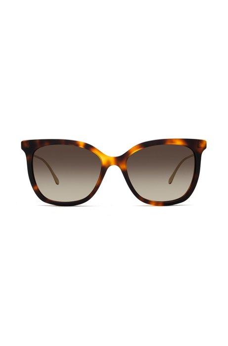 Sonnenbrille mit Acetat-Fassung in Schildpatt-Optik fXlsIL41