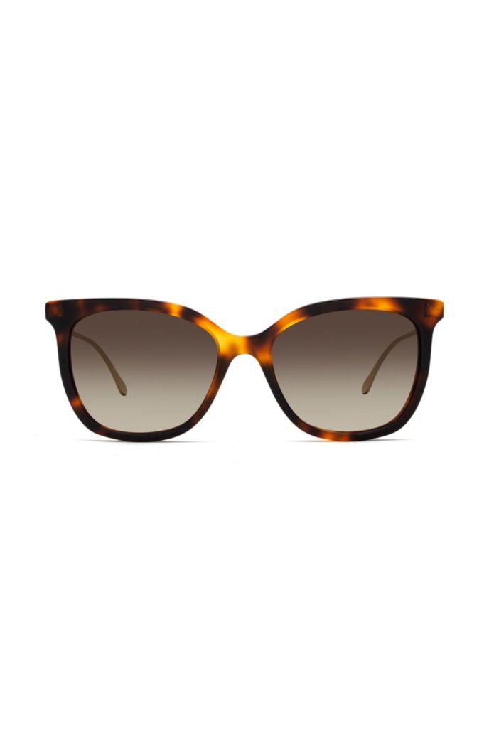 Sunglasses with tortoiseshell acetate frames