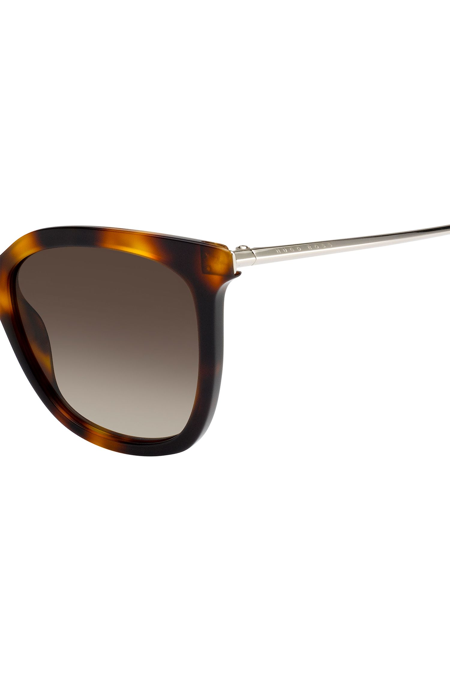 Sunglasses with tortoiseshell acetate frames, Patterned