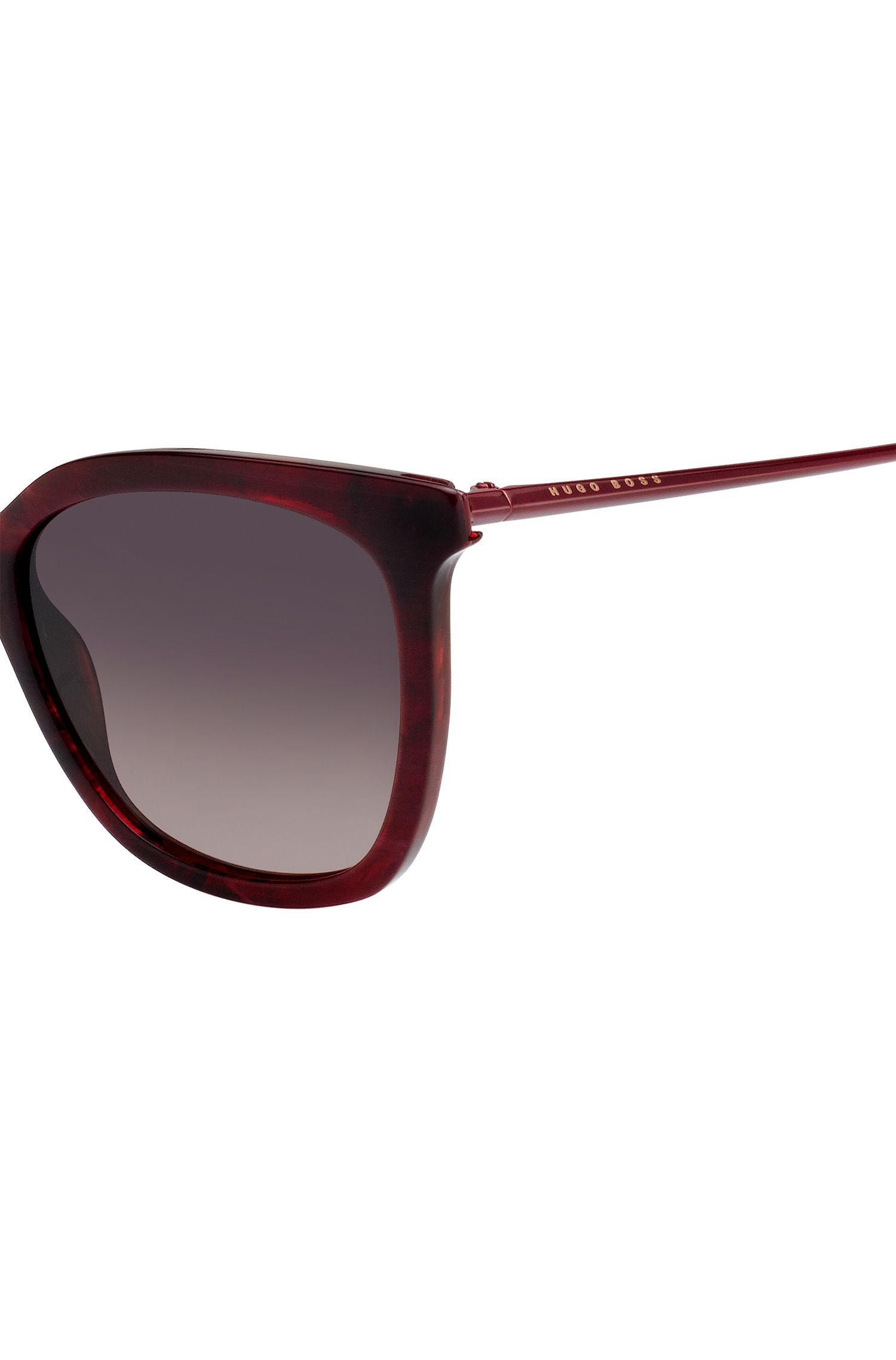 Acetate sunglasses with butterfly temples