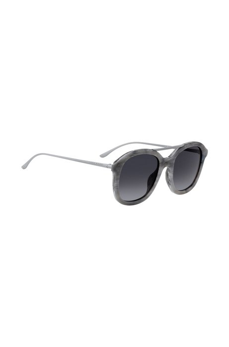 BOSS - Acetate sunglasses with grey patterned frames