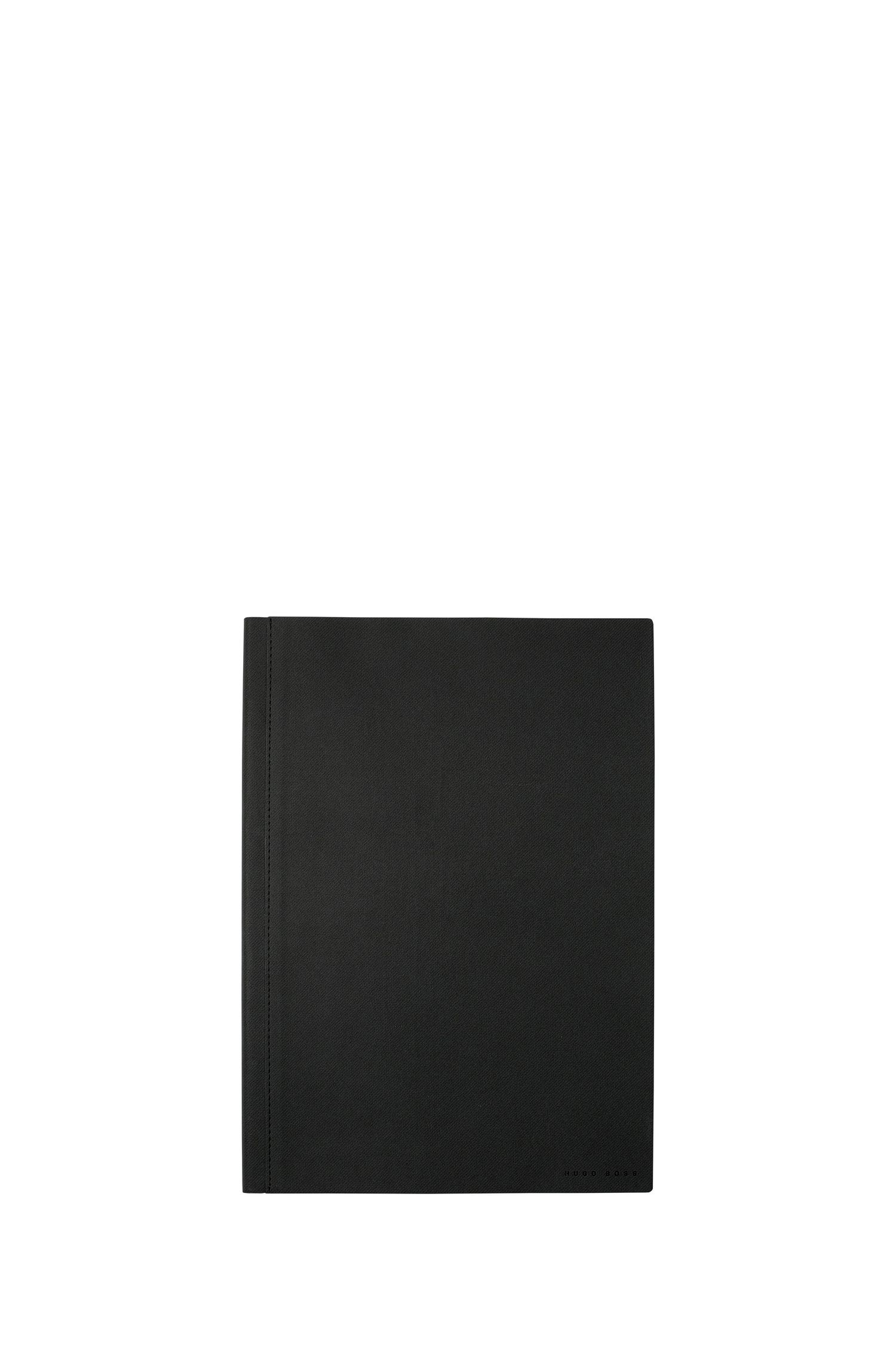 A4 notebook in dark-grey technical fabric