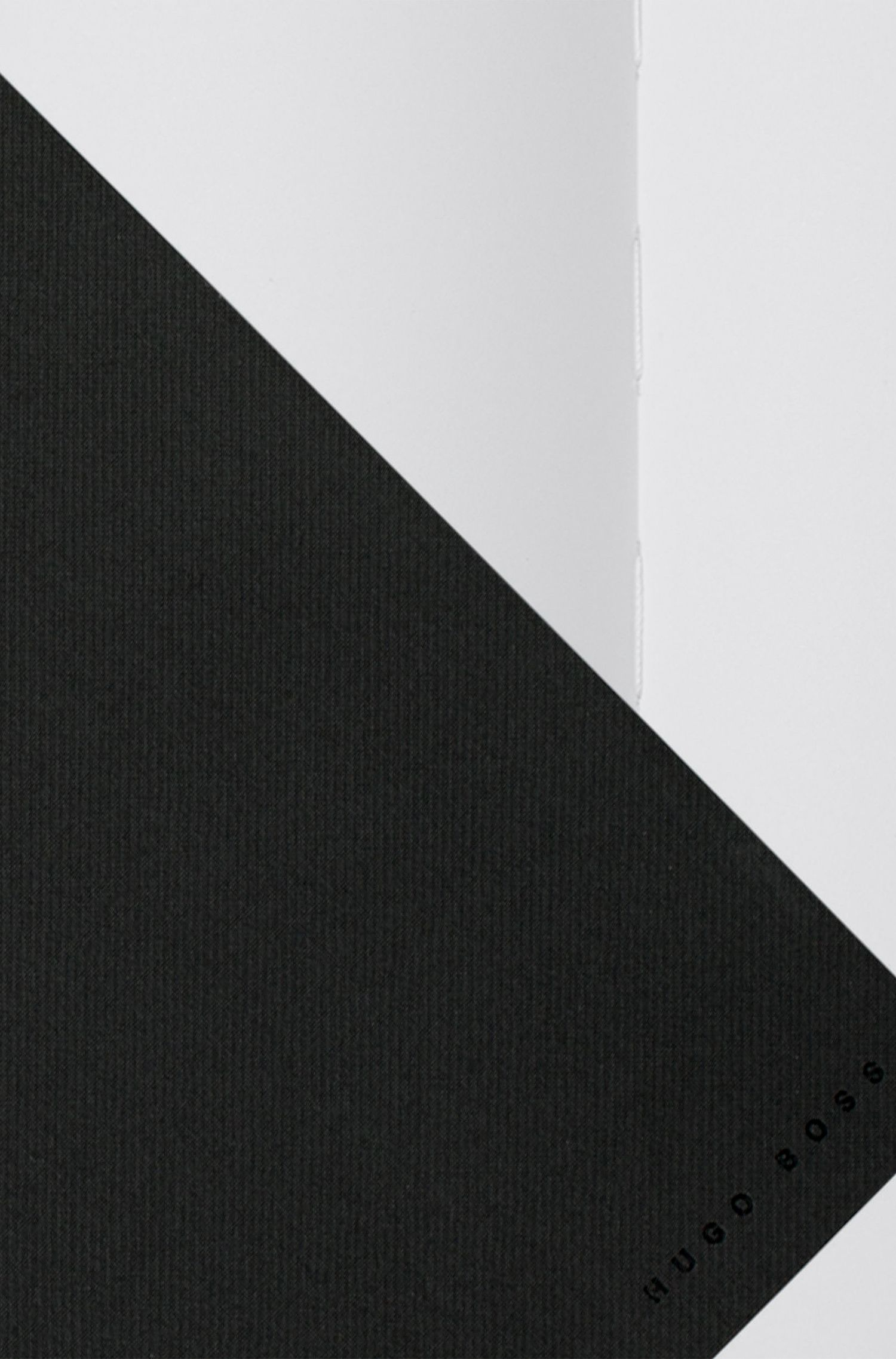 A4 notebook in dark-grey technical fabric, Dark Grey