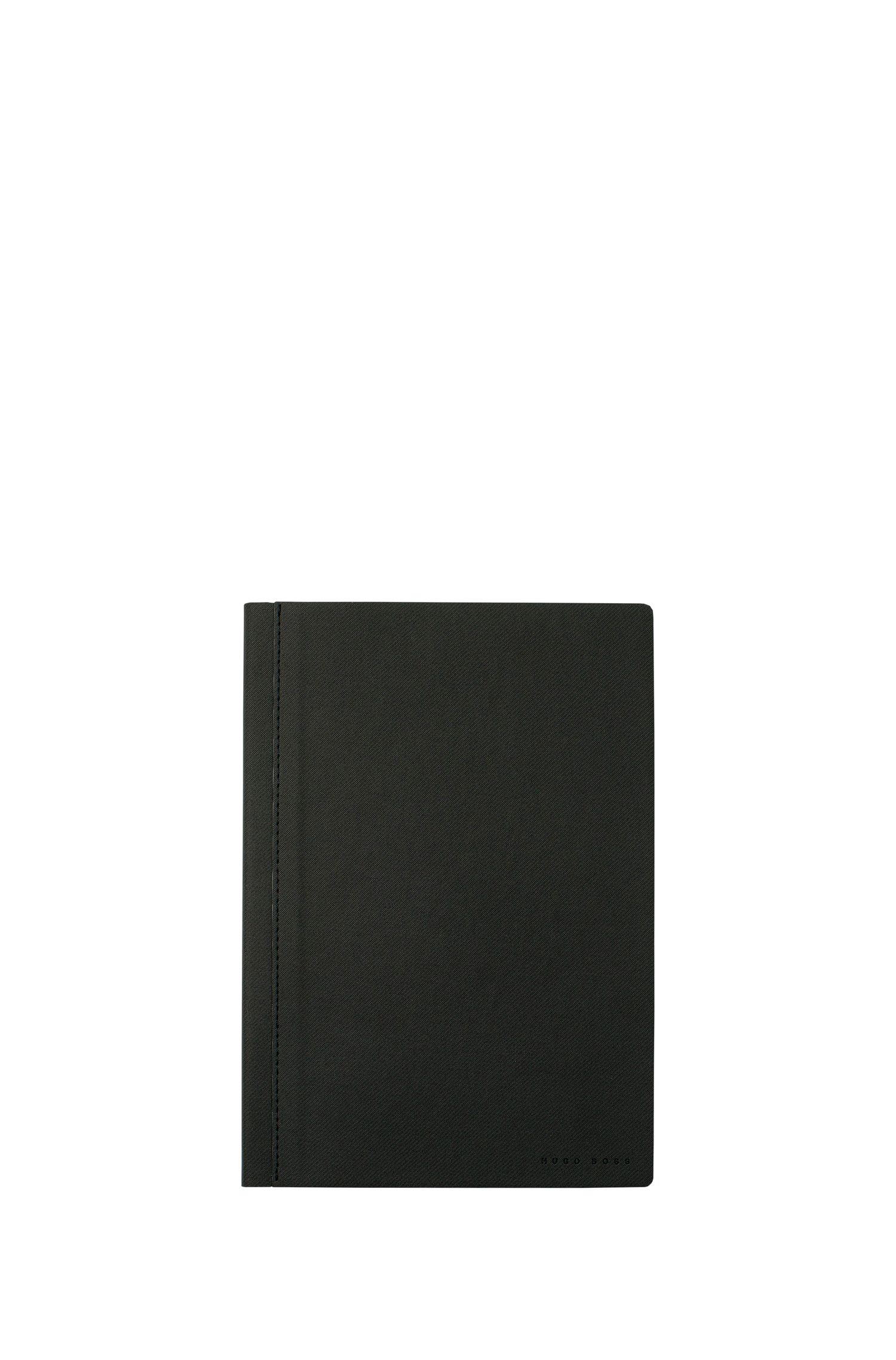 A5 notebook with dark-grey fabric cover, Dark Grey