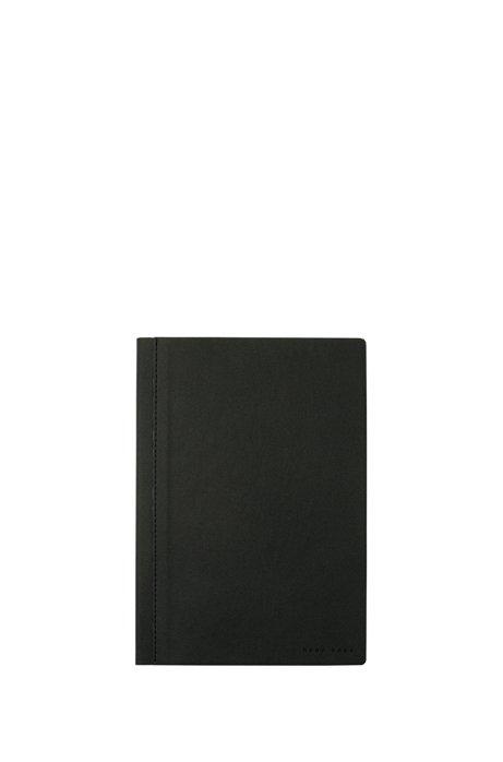 4c04e2f4aa5 A5 notebook with dark-grey fabric cover, Dark Grey