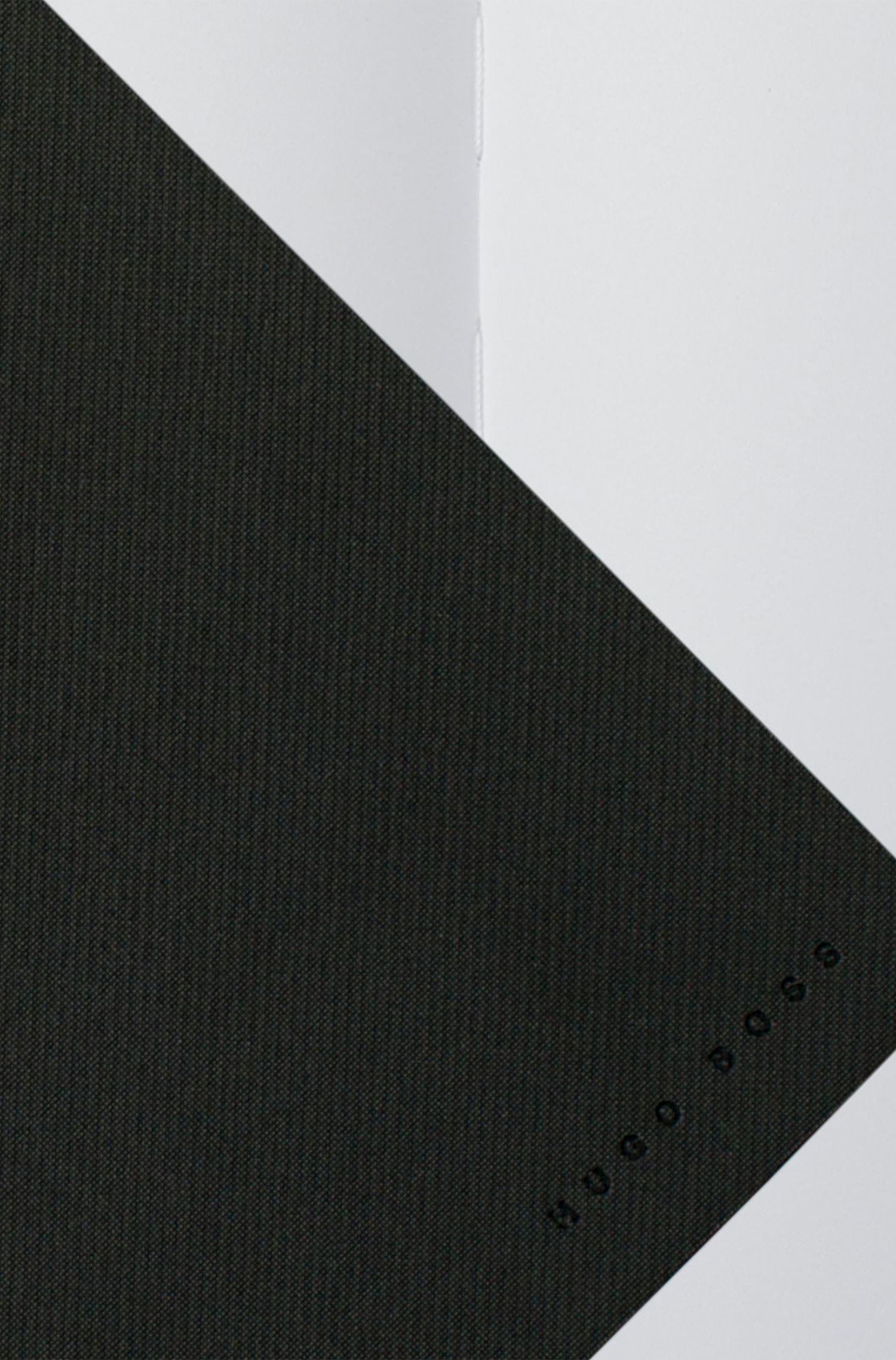 A5 notebook with dark-grey fabric cover