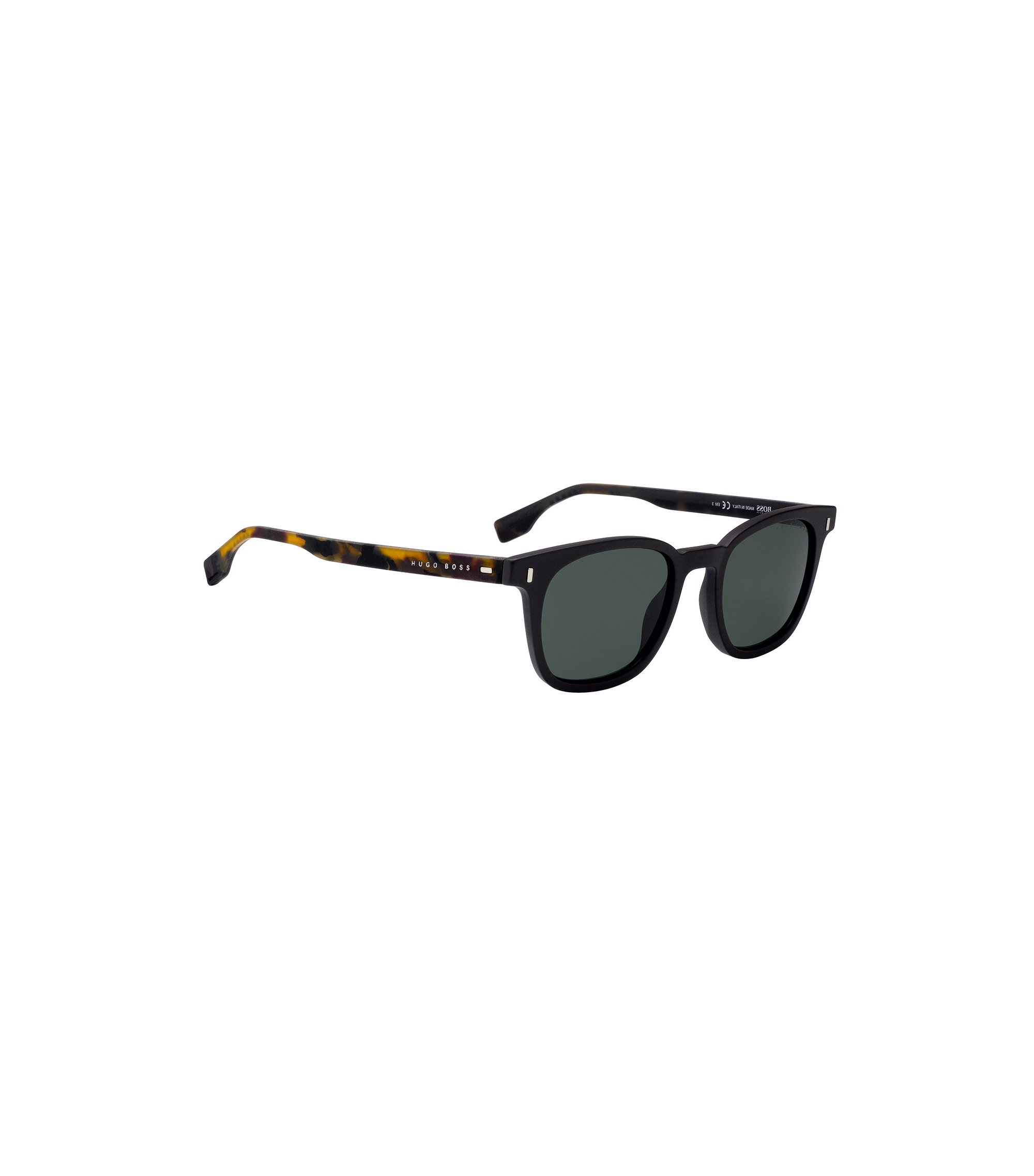Acetate sunglasses with Havana rubber temples, Assorted-Pre-Pack