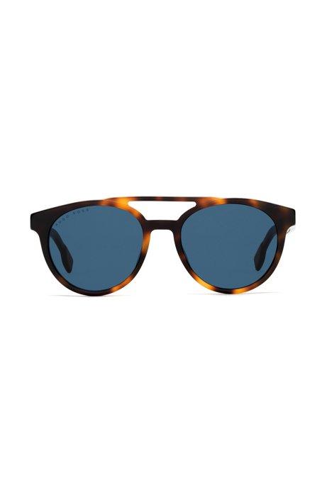 Sonnenbrille mit Doppelsteg und transparenten Details 9WGLuLAlc