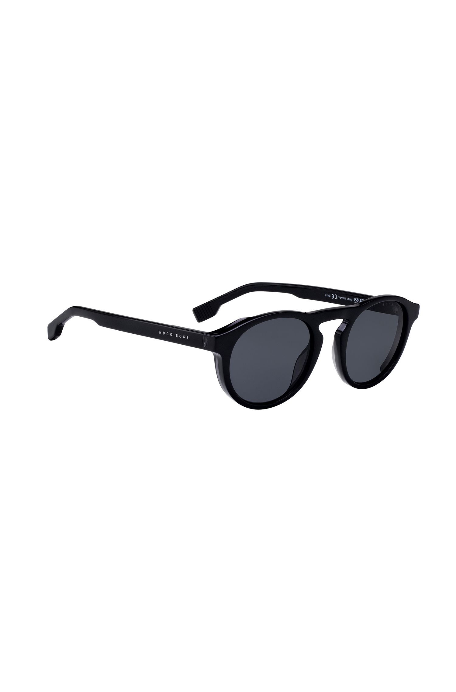 Full-acetate sunglasses with keyhole nose, Black
