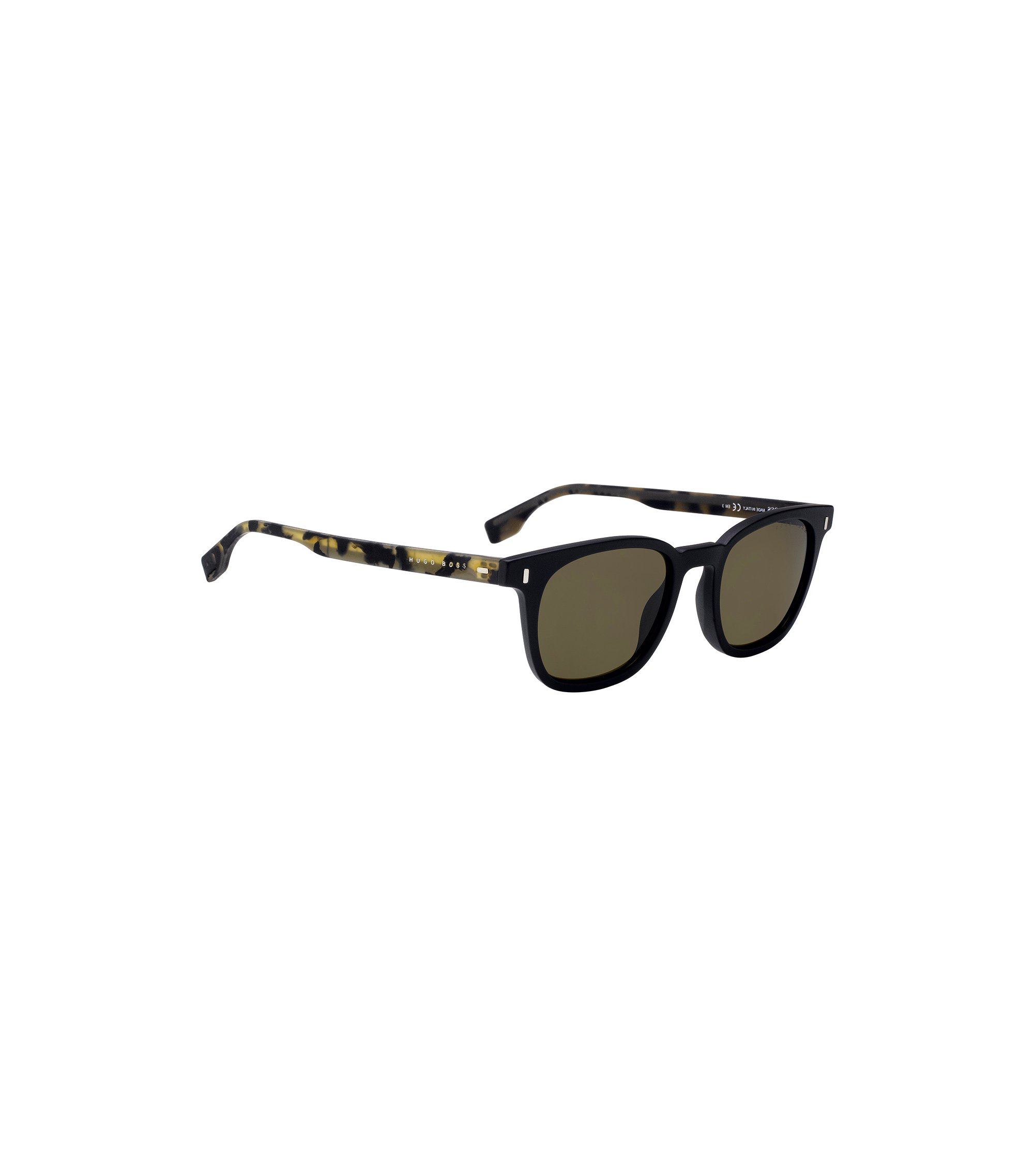 Sunglasses with rubber Havana temples, Assorted-Pre-Pack