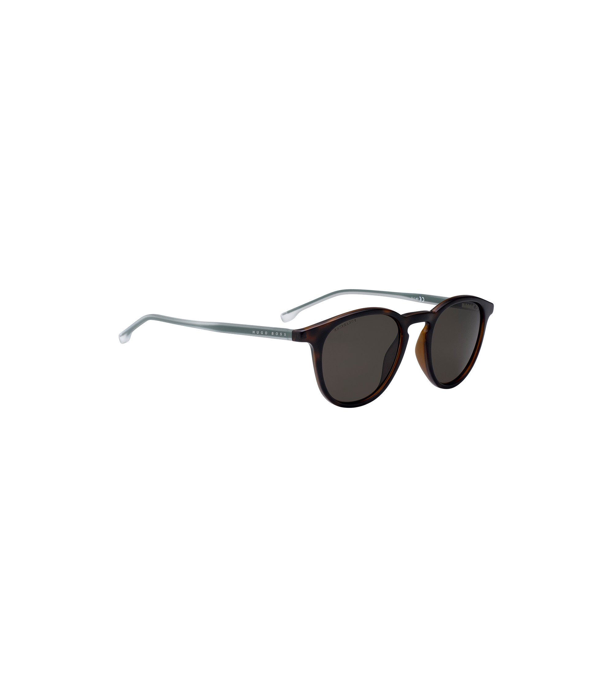 Havana-optyl sunglasses with polarised lenses, Dark Brown