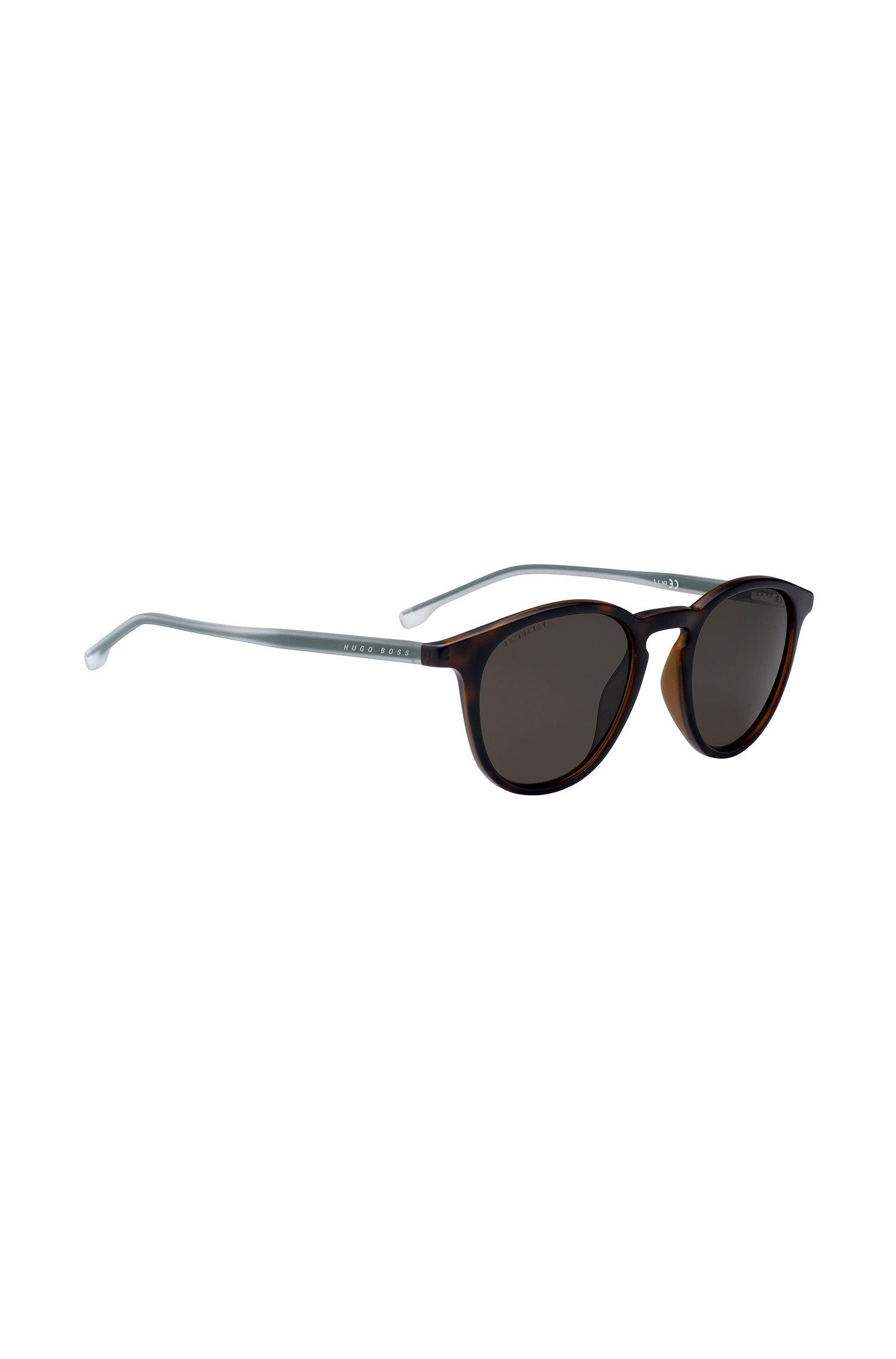 Havana-optyl sunglasses with polarised lenses, Dark Brown