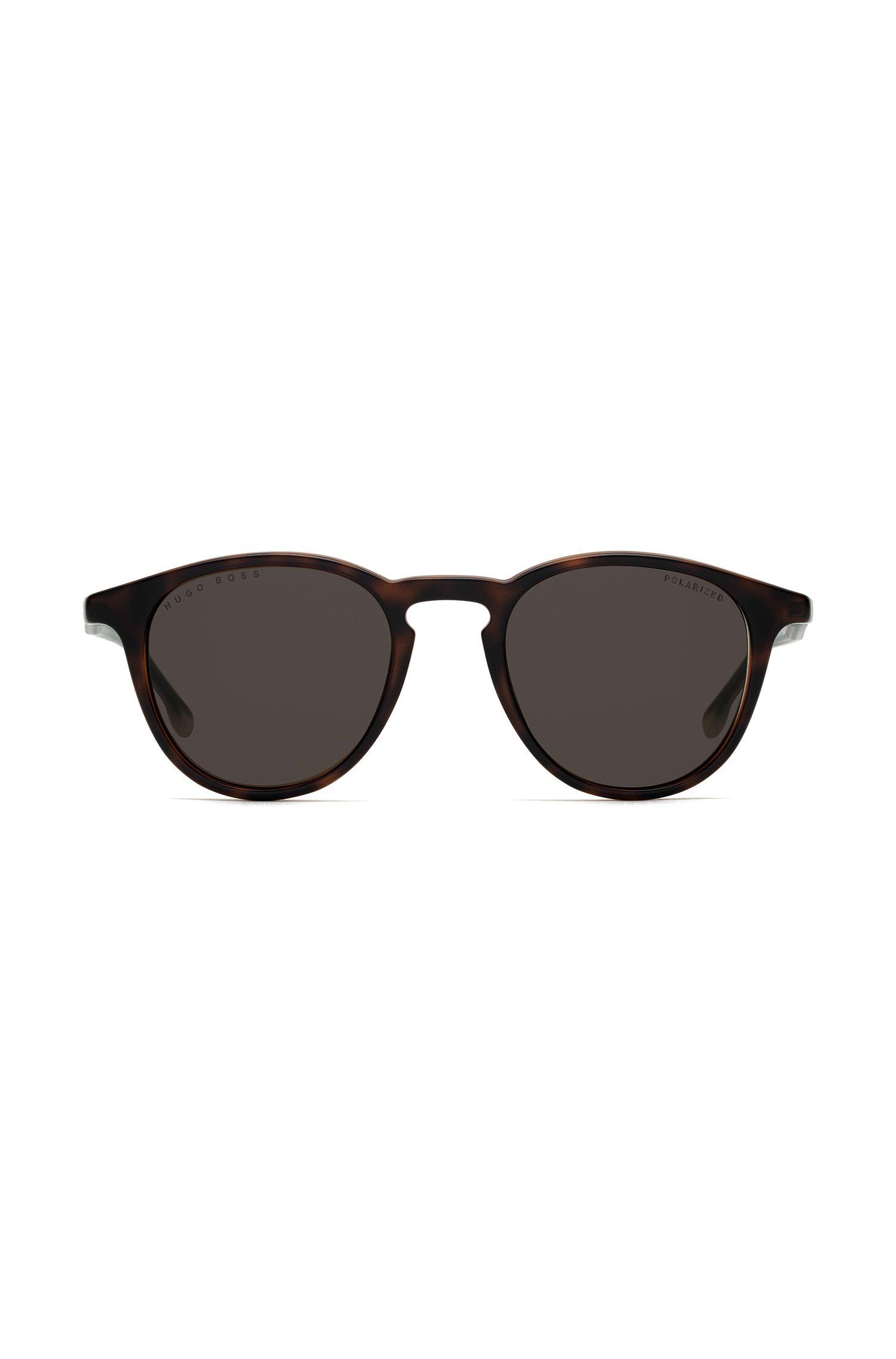 Sonnenbrille aus Optyl mit polarisierten Gläsern und Havanna-Muster