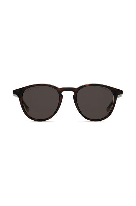 Sonnenbrille aus Optyl mit polarisierten Gläsern und Havanna-Muster 0poY4k5