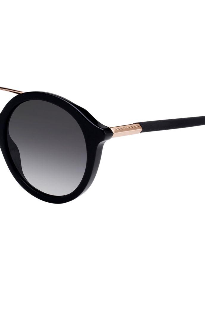 Acetate-frame sunglasses with double bridge
