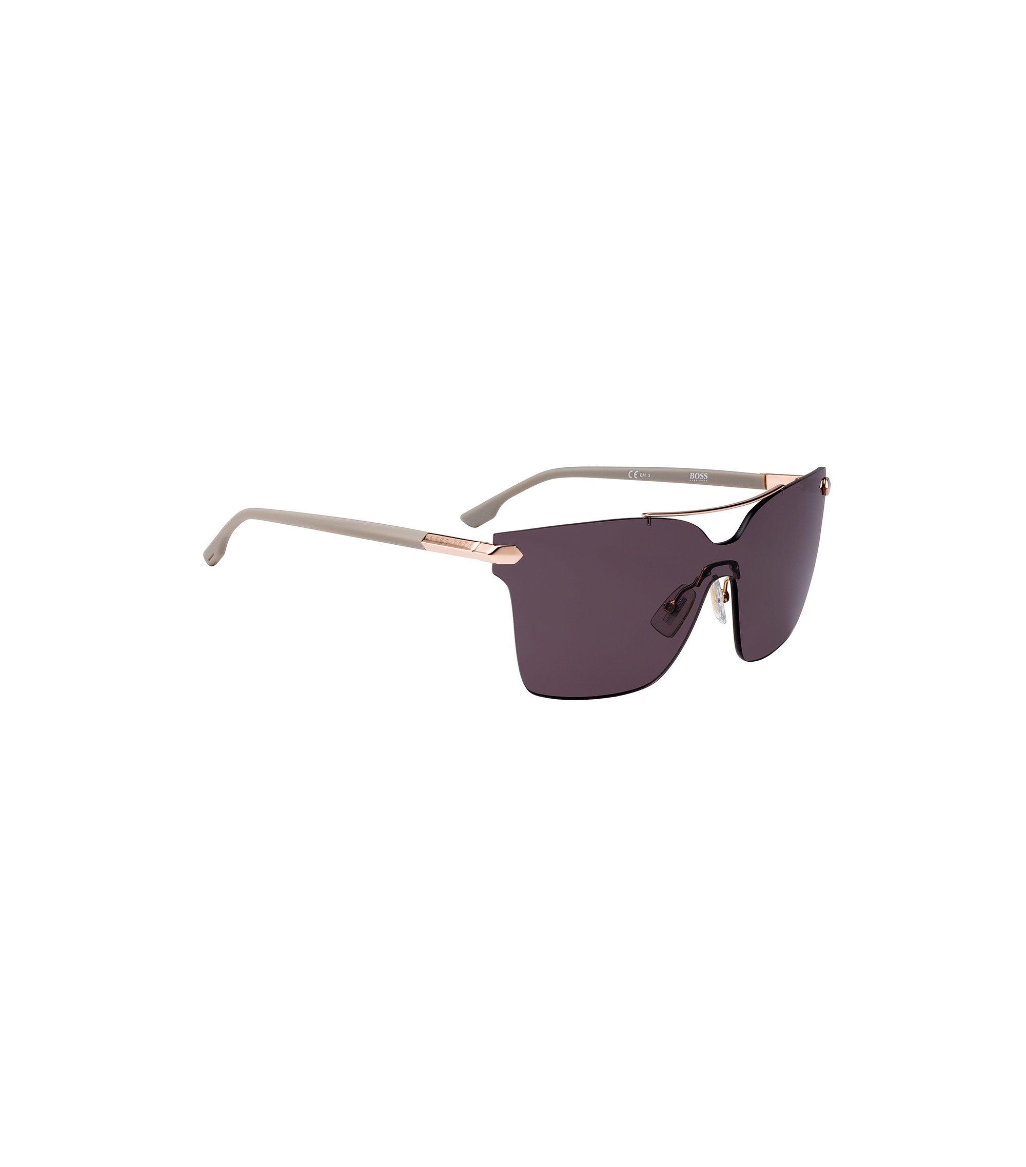 Shield sunglasses with riveted hinges, Assorted-Pre-Pack