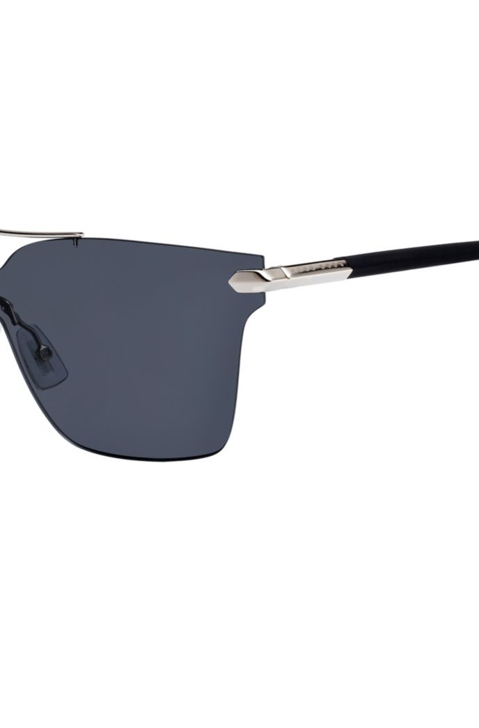 Shield sunglasses with cufflink detail