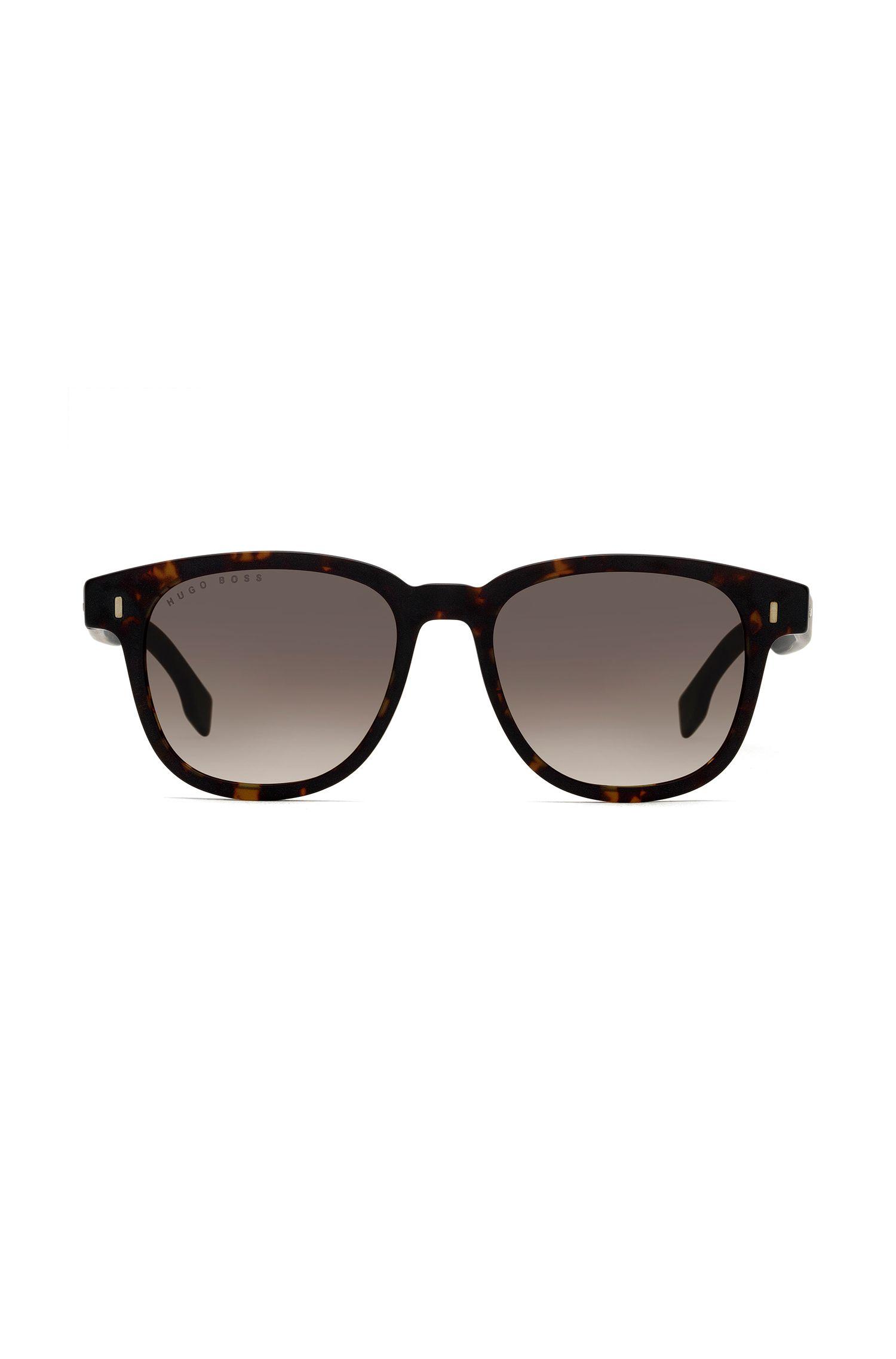 Sonnenbrille aus Acetat mit Havanna-Muster, Gemustert