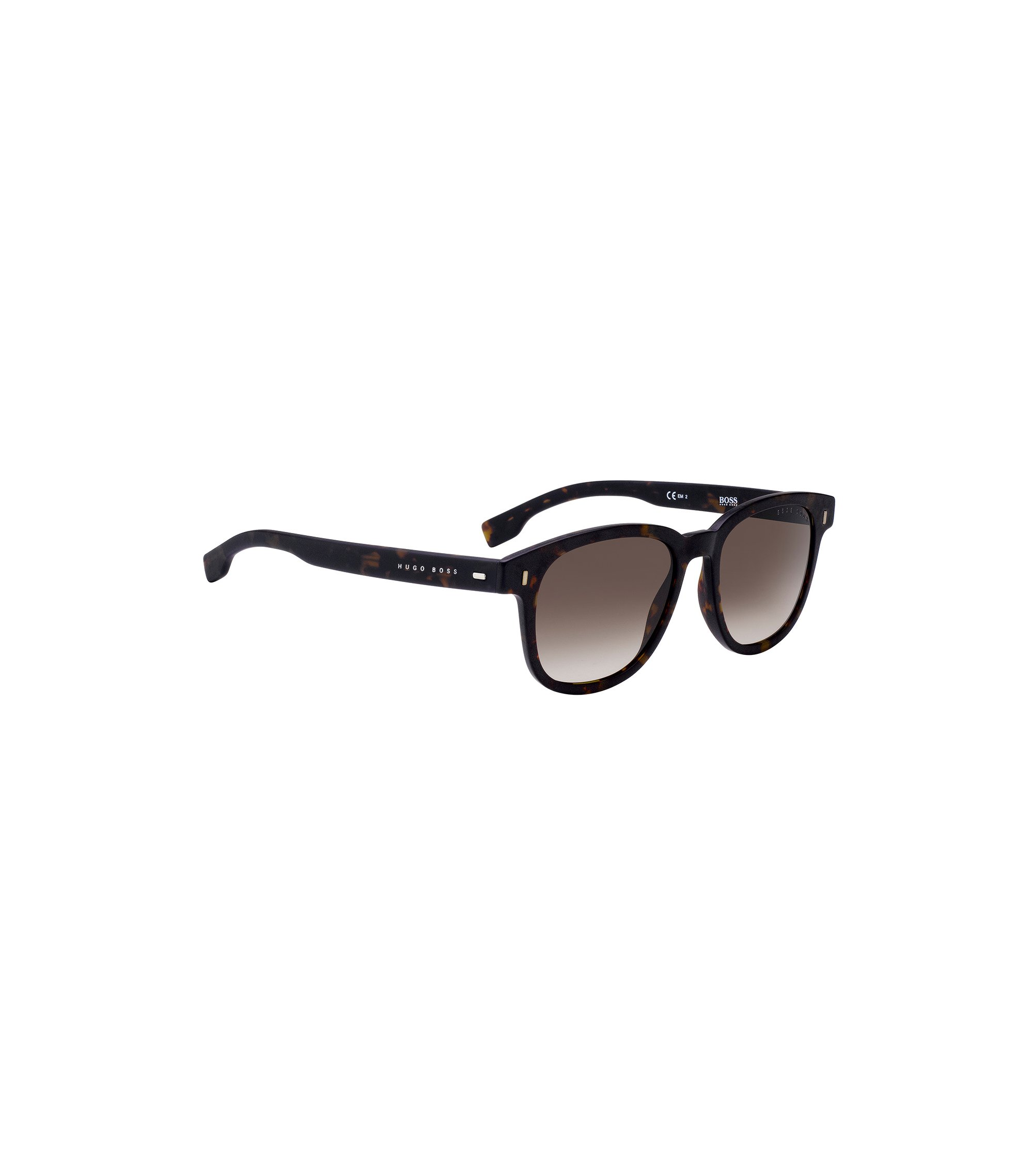 Sunglasses in high-density acetate with Havana pattern, Patterned