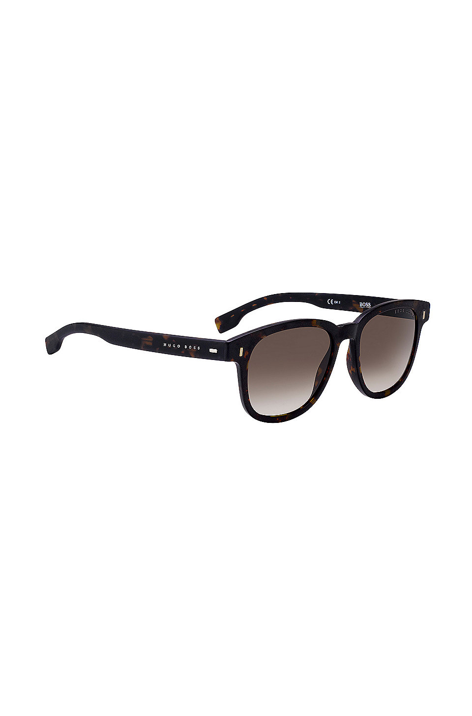 Acetate sunglasses with grey patterned frames BOSS lnoMx6
