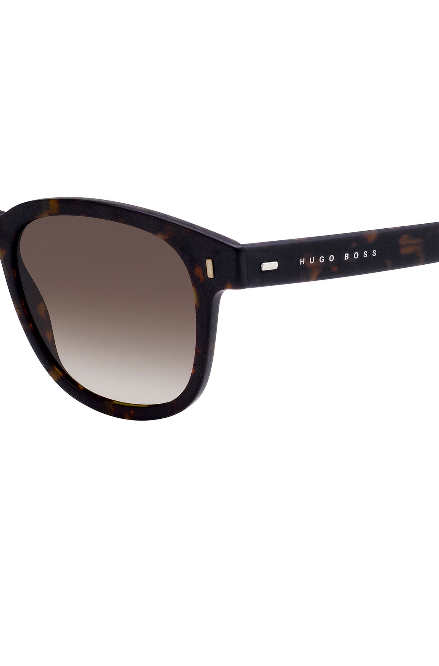 Sunglasses in high-density acetate with Havana pattern