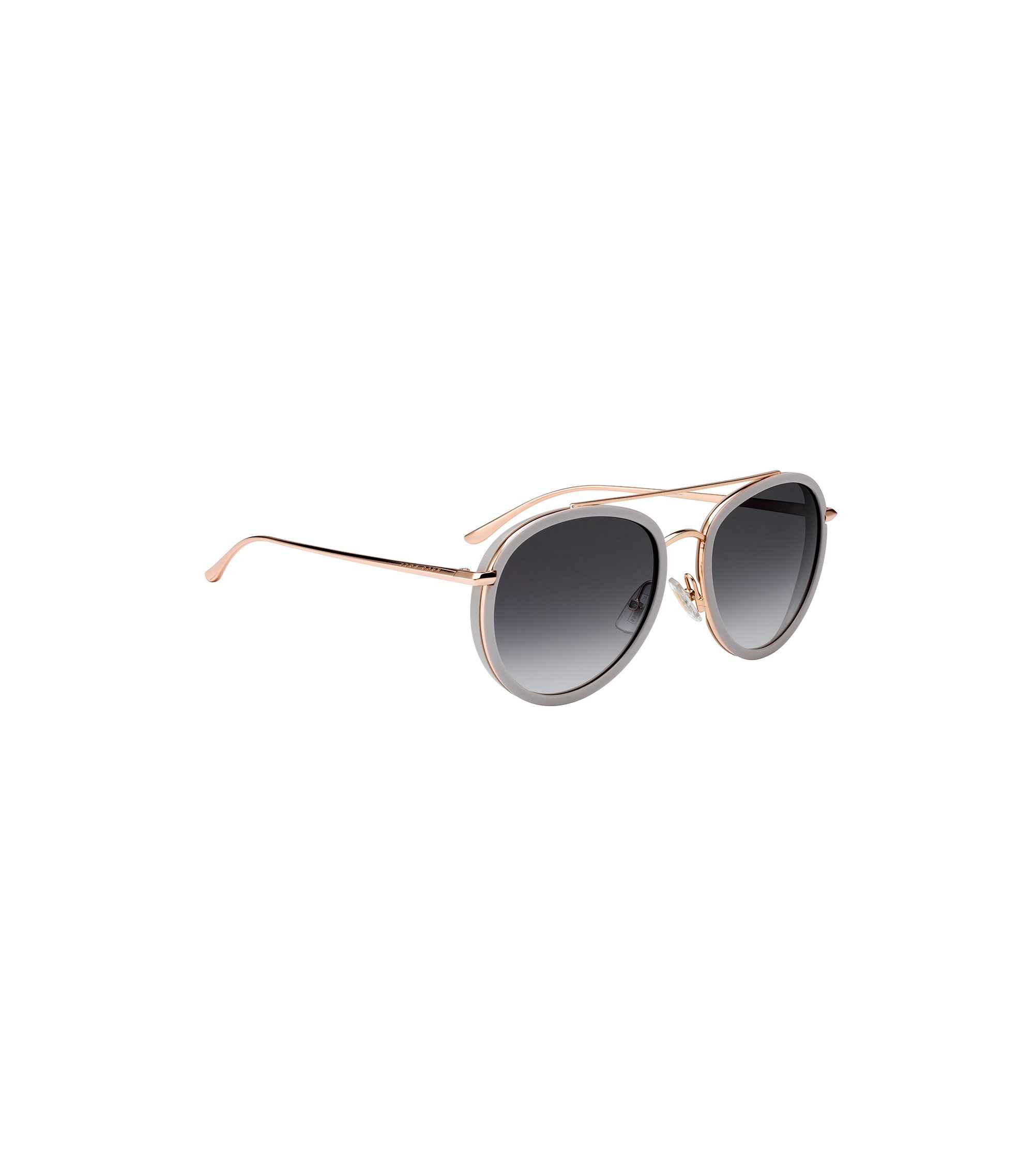 Double-bridge sunglasses with shaded lenses, Gold