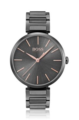 Anthracite-plated watch with rose-gold details, Assorted-Pre-Pack