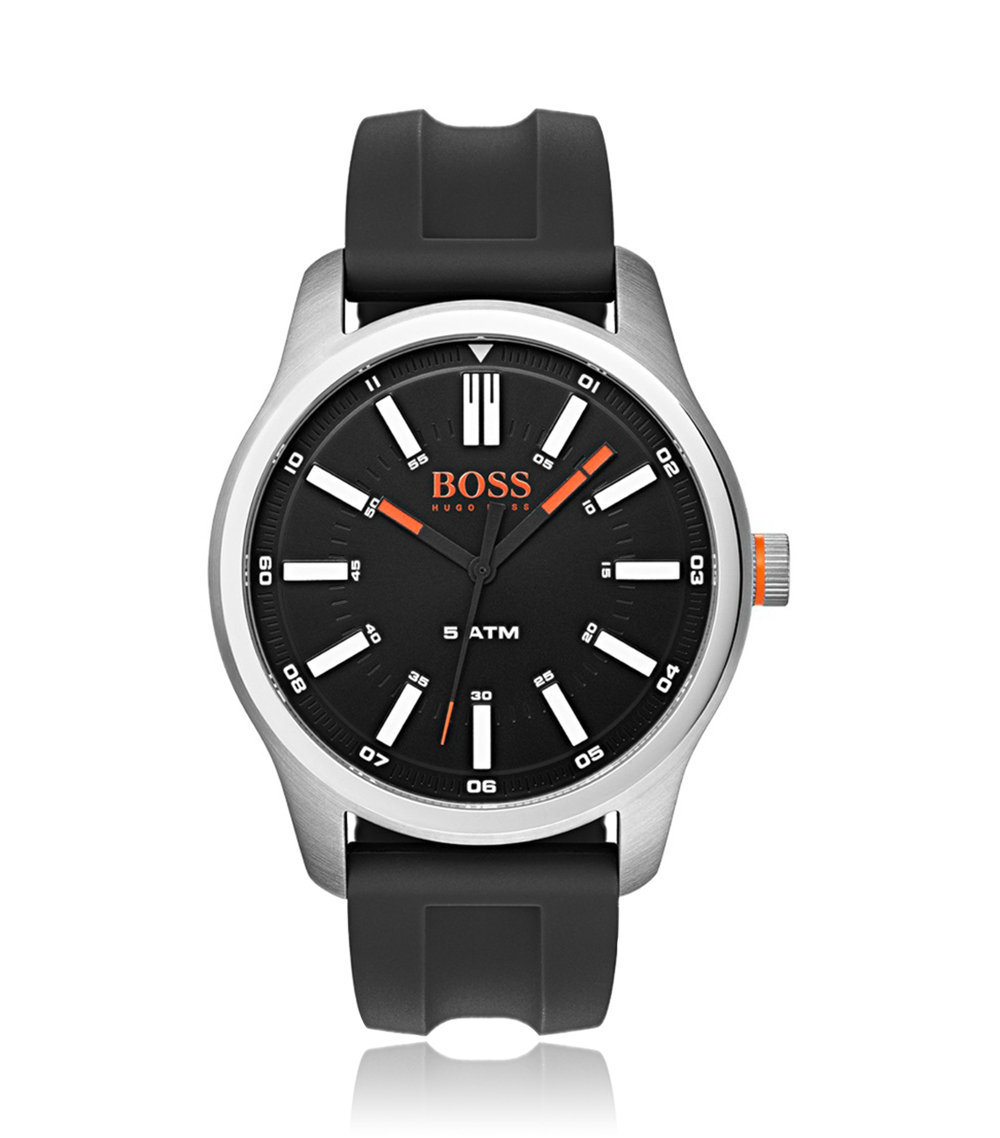 Uhr aus Edelstahl mit Silikonarmband, Assorted-Pre-Pack