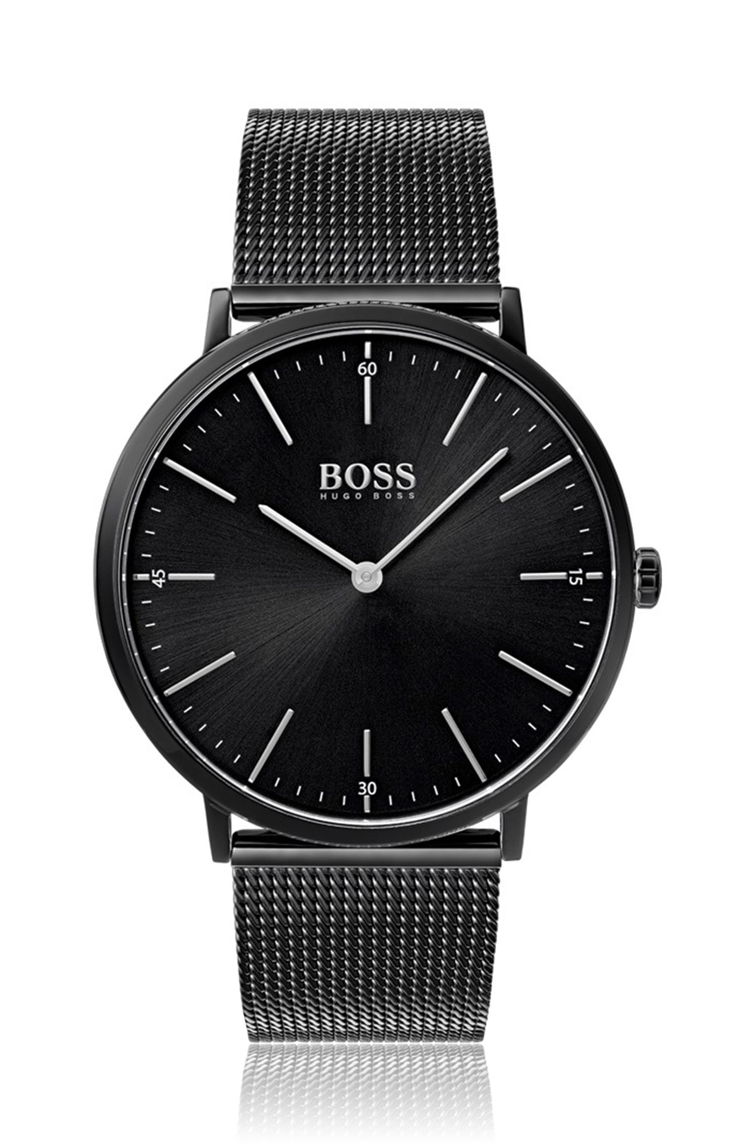 Horloge met kwartsuurwerk en polsband in meshlook