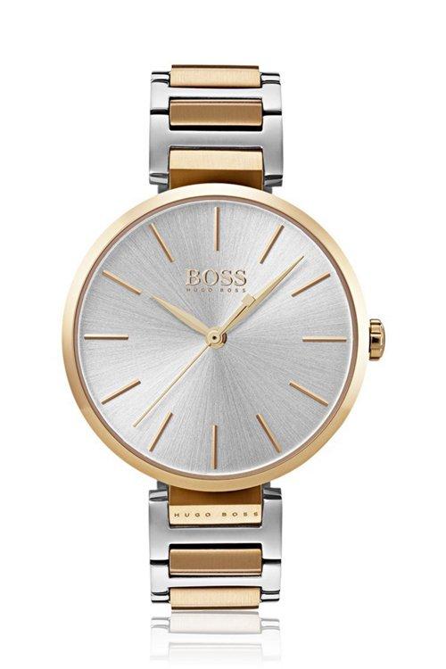 Hugo Boss - Reloj con pulsera de eslabones y detalles con chapado en oro rojo - 1