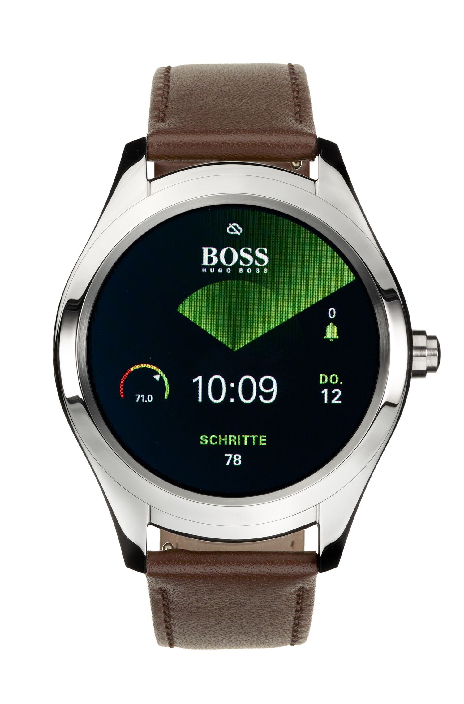 Customisable Touch Smartwatch in stainless steel