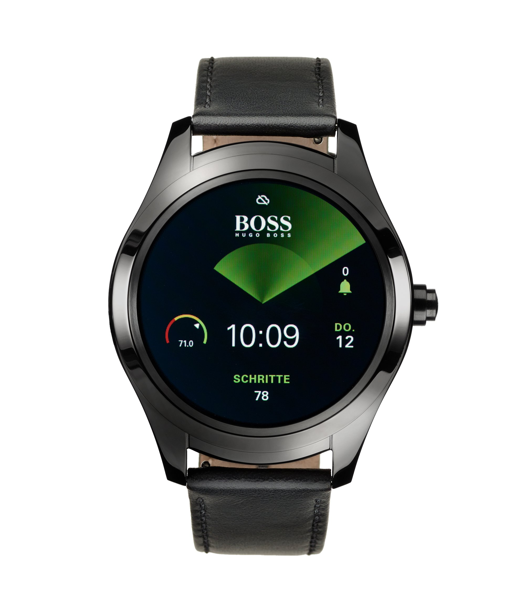 Touch Smartwatch in black ion-plated steel, Black