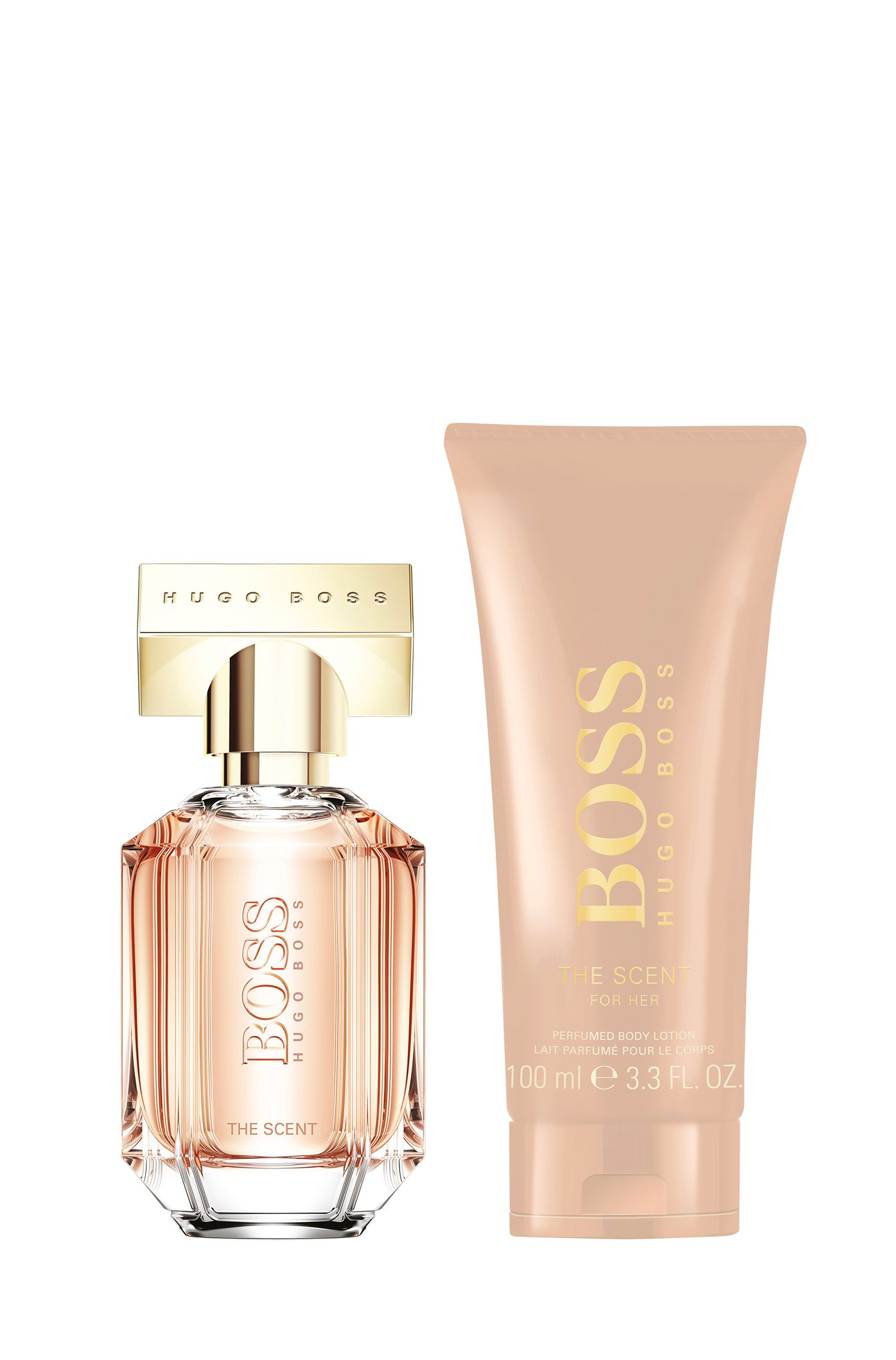 Coffret cadeau parfum The Scent for Her de BOSS