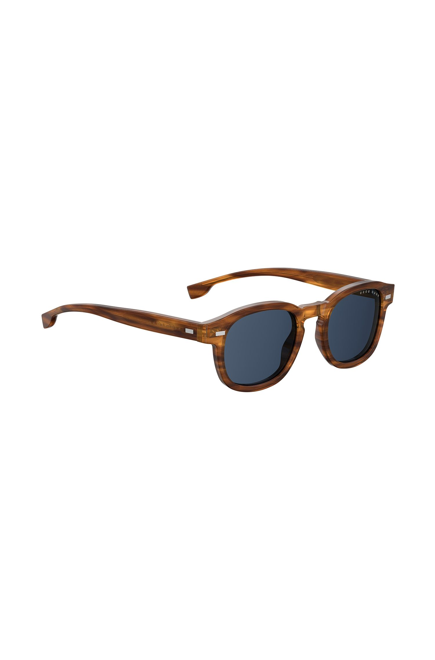 Keyhole-nose sunglasses in tortoiseshell acetate, Brown
