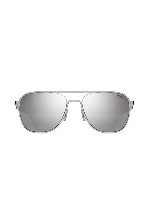 Hugo Boss - Silver-tone aviator sunglasses with mirrored lenses - 2