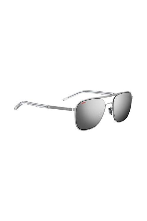 Hugo Boss - Silver-tone aviator sunglasses with mirrored lenses - 1