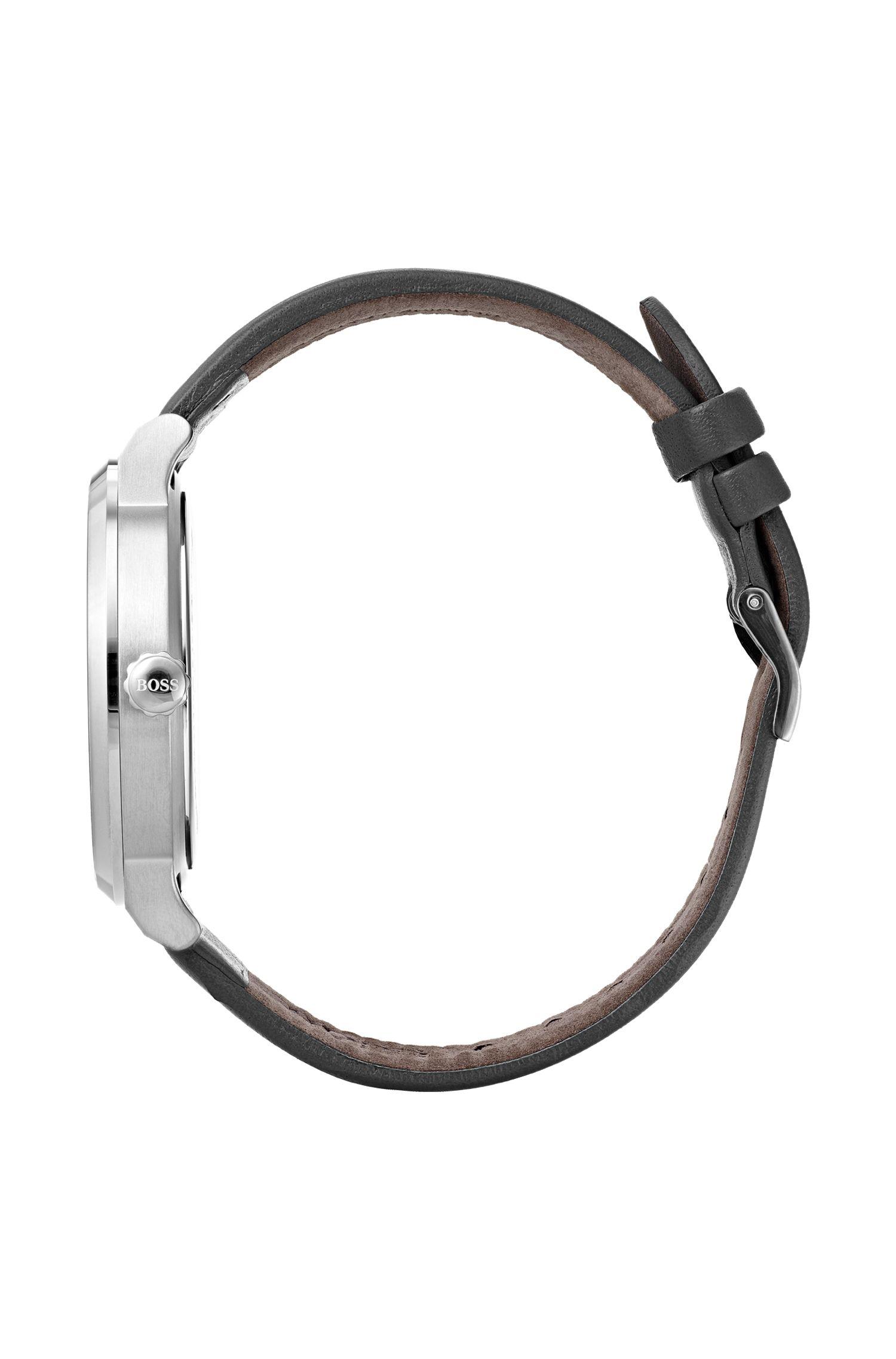 Montre en acier inoxydable à cadran noir mat, Assorted-Pre-Pack
