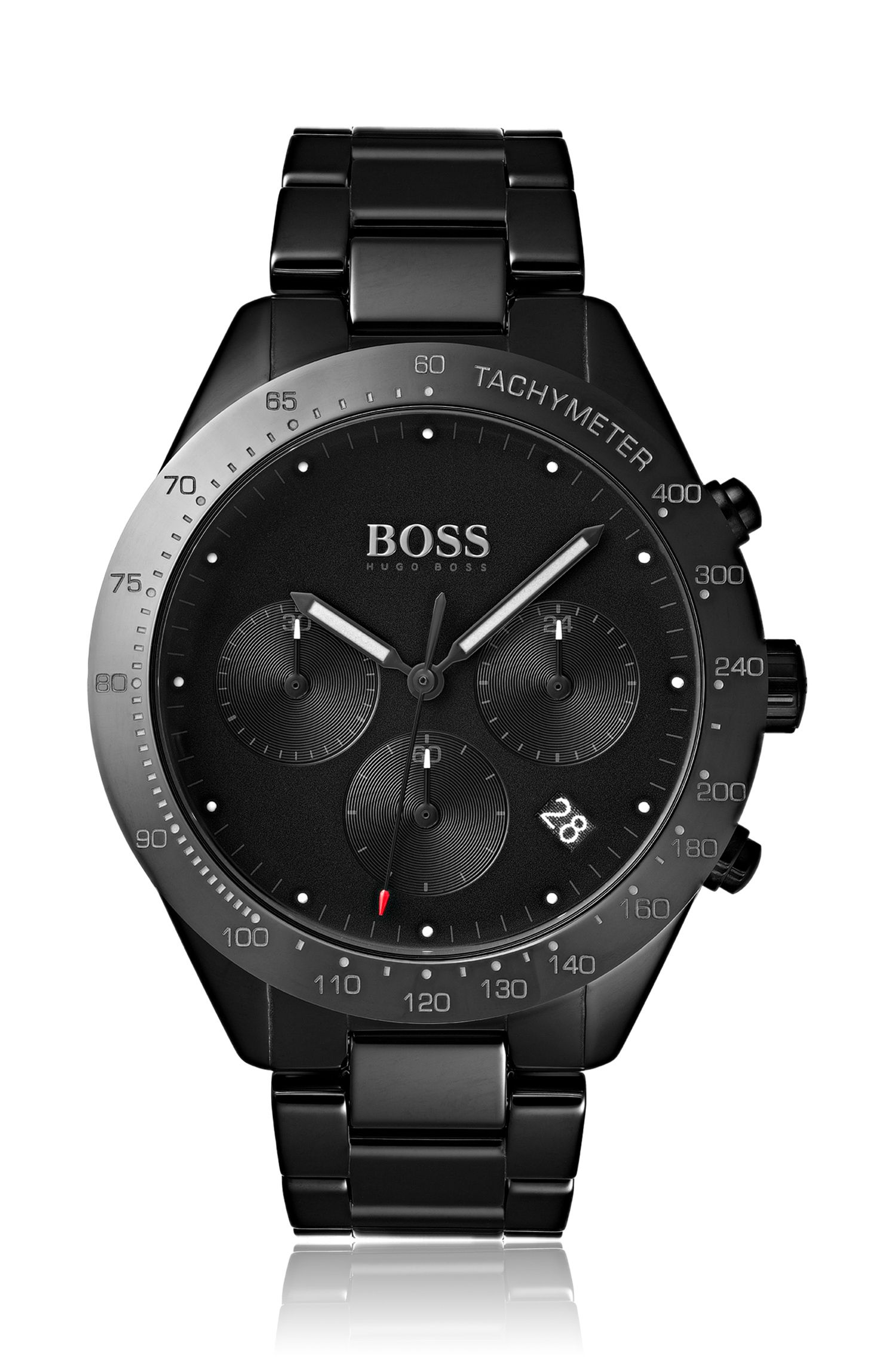 Chronograph watch in black ceramic, Assorted-Pre-Pack